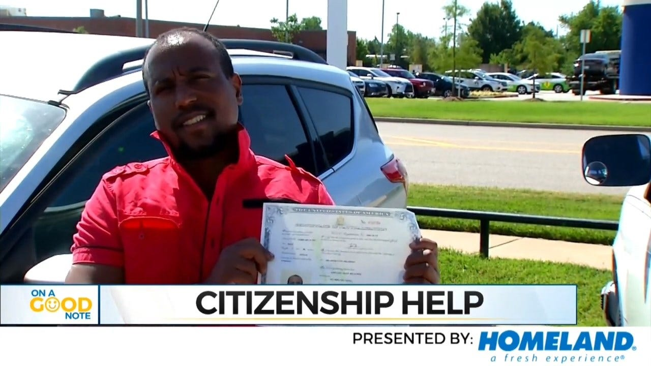 On A Good Note: Oklahoma City Officer Helps Stranded Motorist Become U.S. Citizen