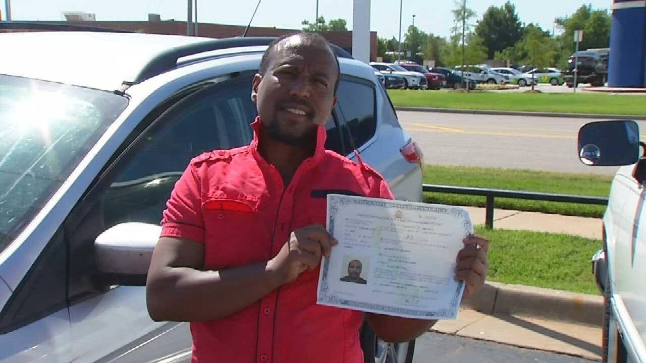 Red Dirt Diaries: OKC Officer Helps Man Become U.S. Citizen