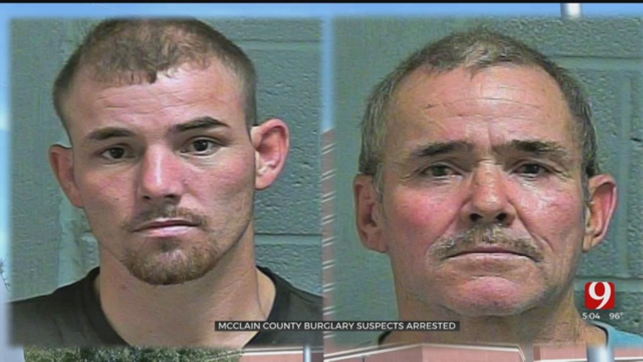 2 McClain County Burglary Suspects Caught, Investigation Continues