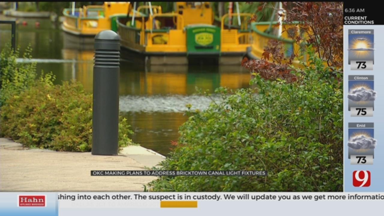 OKC Making Plans To Address Bricktown Canal Light Fixtures