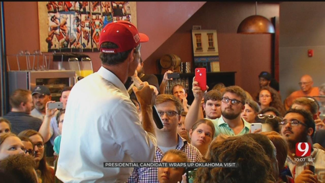 President Candidate Beto O'Rourke Wraps Oklahoma Visit With Rally At OU