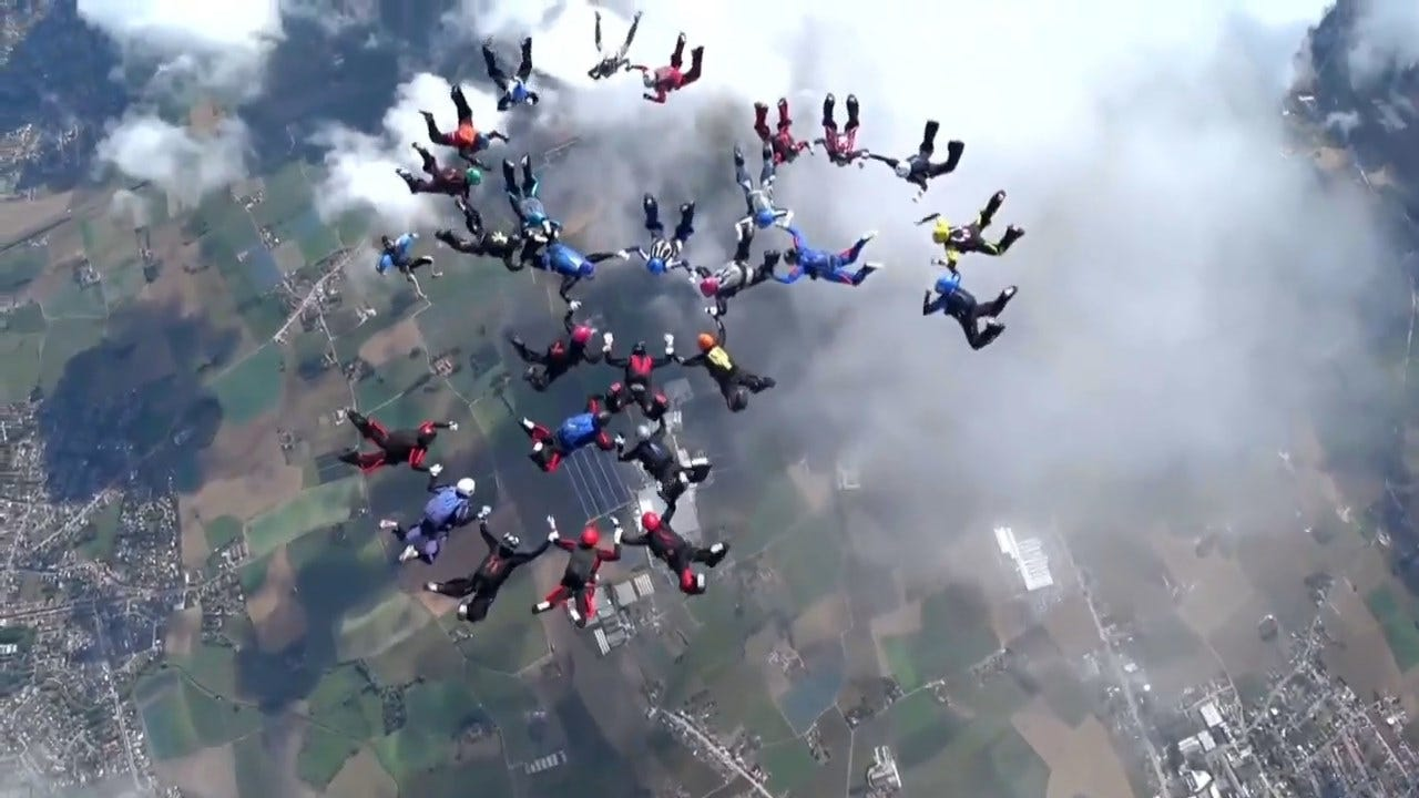 WATCH: 29 Women Set Skydiving Record In Breathtaking Stunt