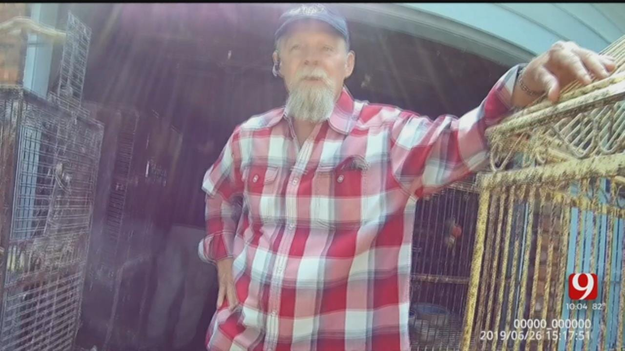 WATCH: OKC Animal Welfare Officers Confront Homeowner After Exotic Birds Found In Deplorable Conditions