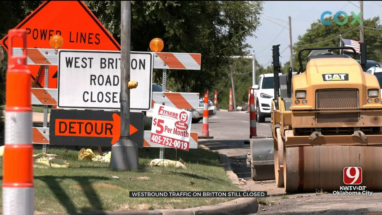 Roadway Construction Causes Confusion For Drivers On Britton Road In The Village
