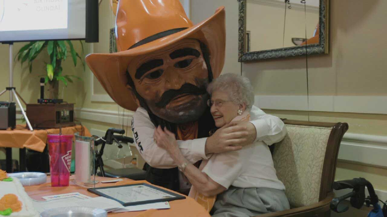 OSU's Mike Gundy Helps Throw OKC Woman A Special 100th Birthday Party