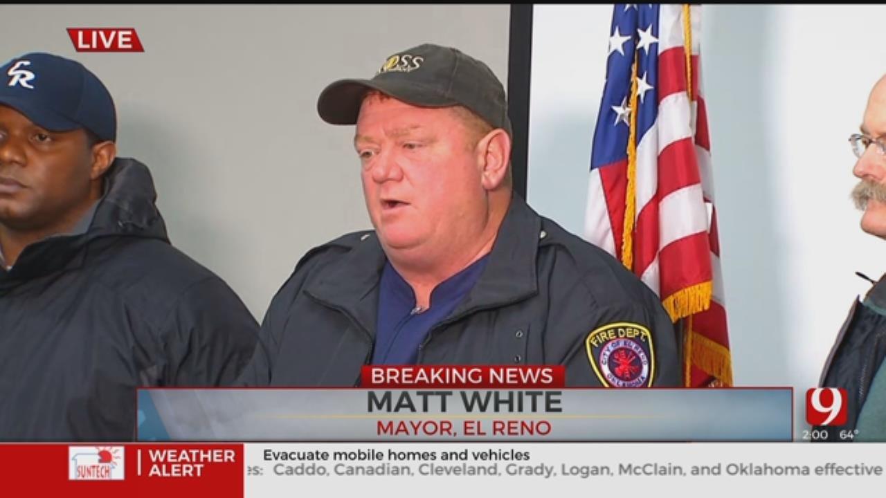 Mayor Of El Reno Hold Press Conference Following Deadly Tornado