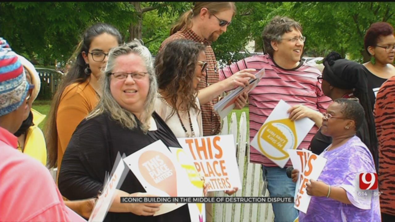 Rally Held In Effort To Save Building In NE Oklahoma City