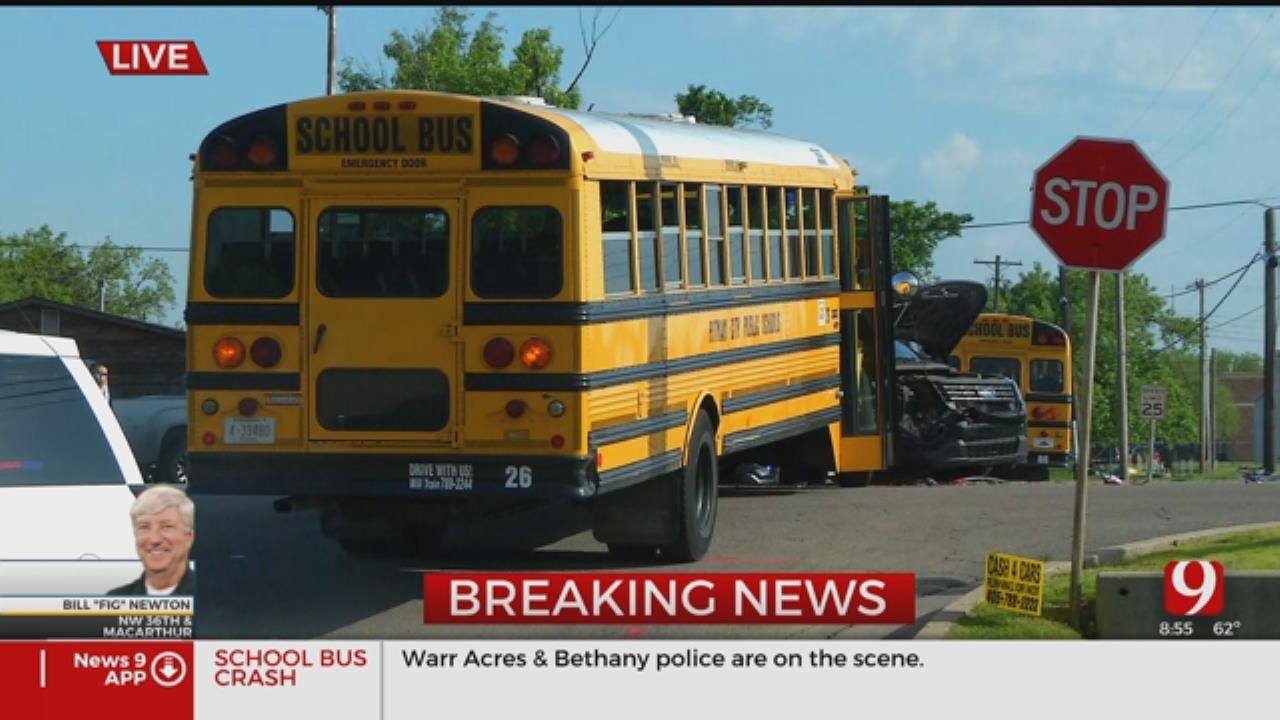 School Bus Crashes Into Police Cruiser In Warr Acres