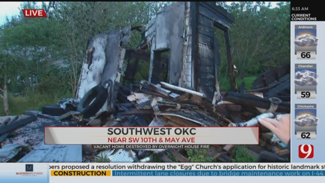 SW OKC Home Destroyed Following Overnight Fire