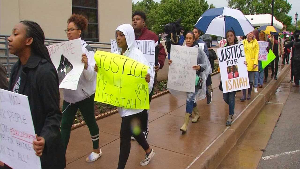 Black Lives Matter Rally Held For Teen Killed In Edmond Officer-Involved Shooting