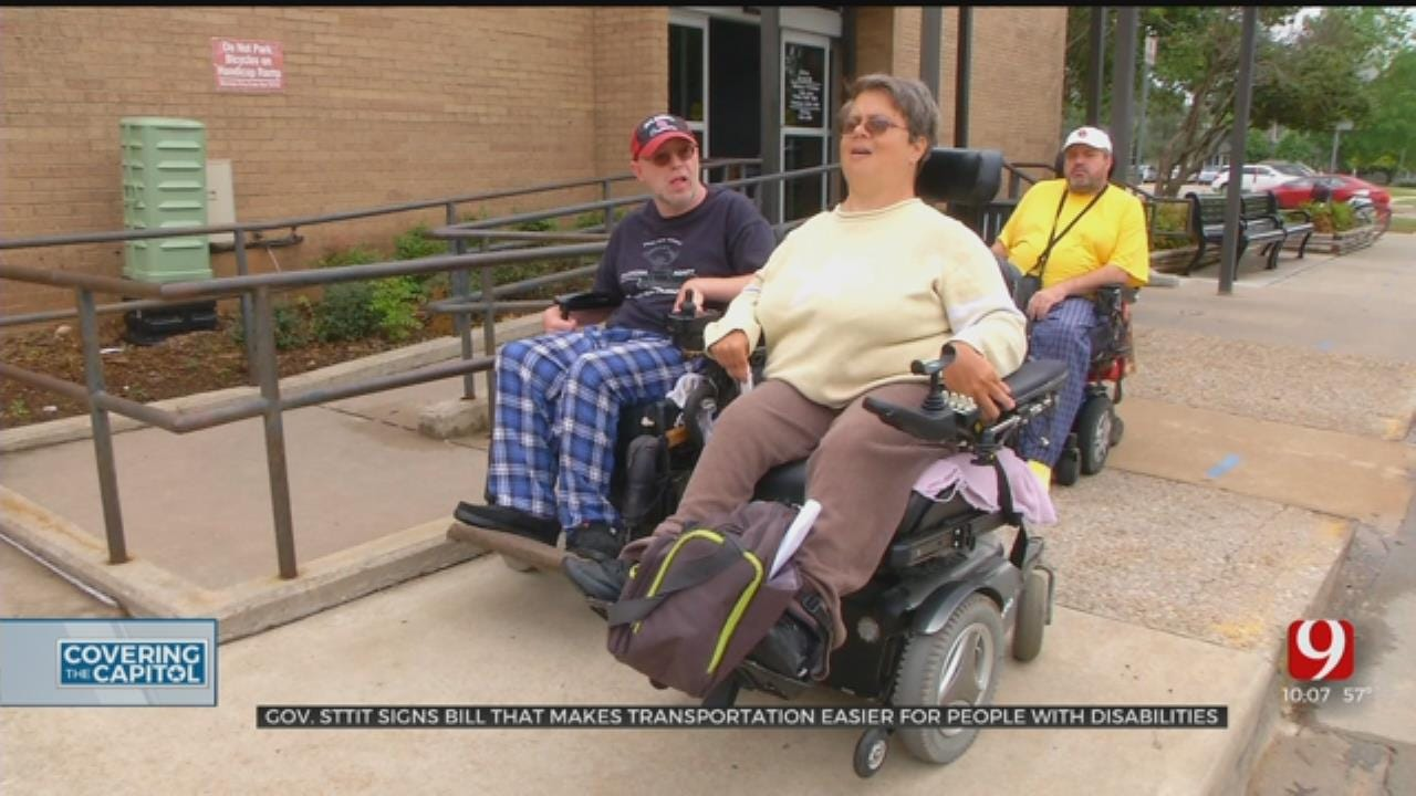 Gov. Stitt Signs Bill, Hopes To Make Transportation Easier For People With Disabilities
