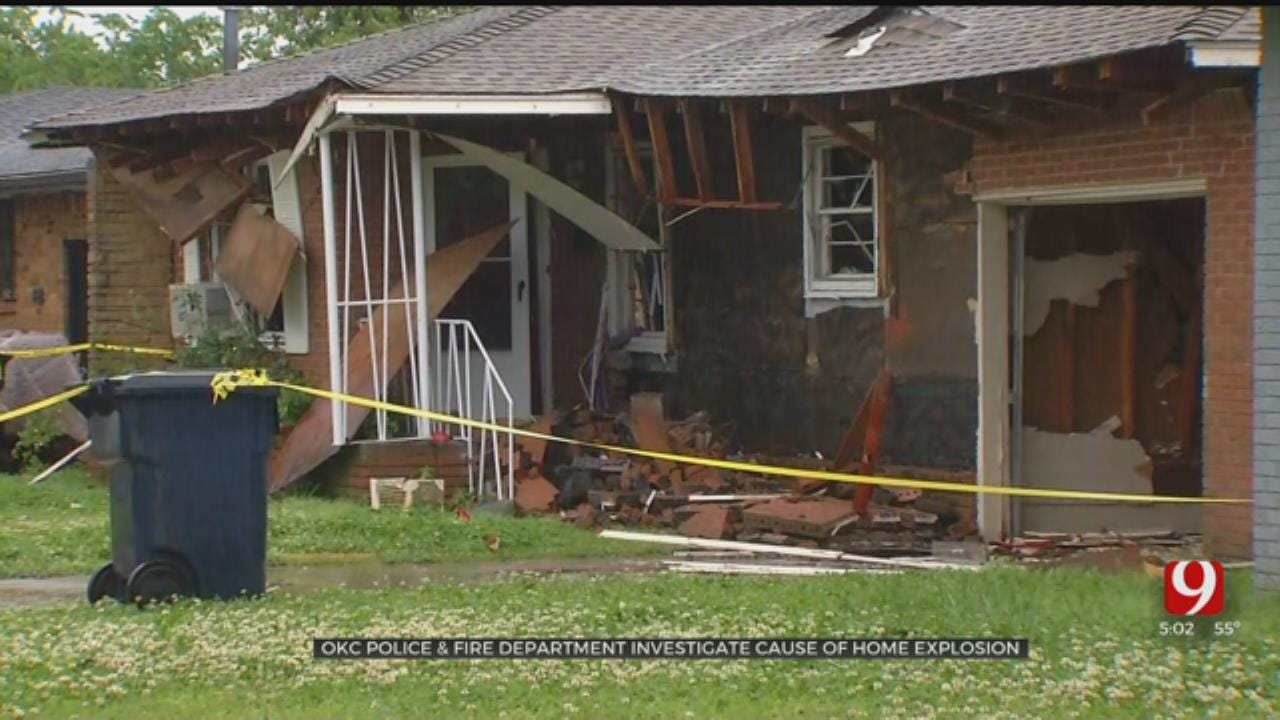 OKC Police, Fire Department Investigating Cause Of Home Explosion
