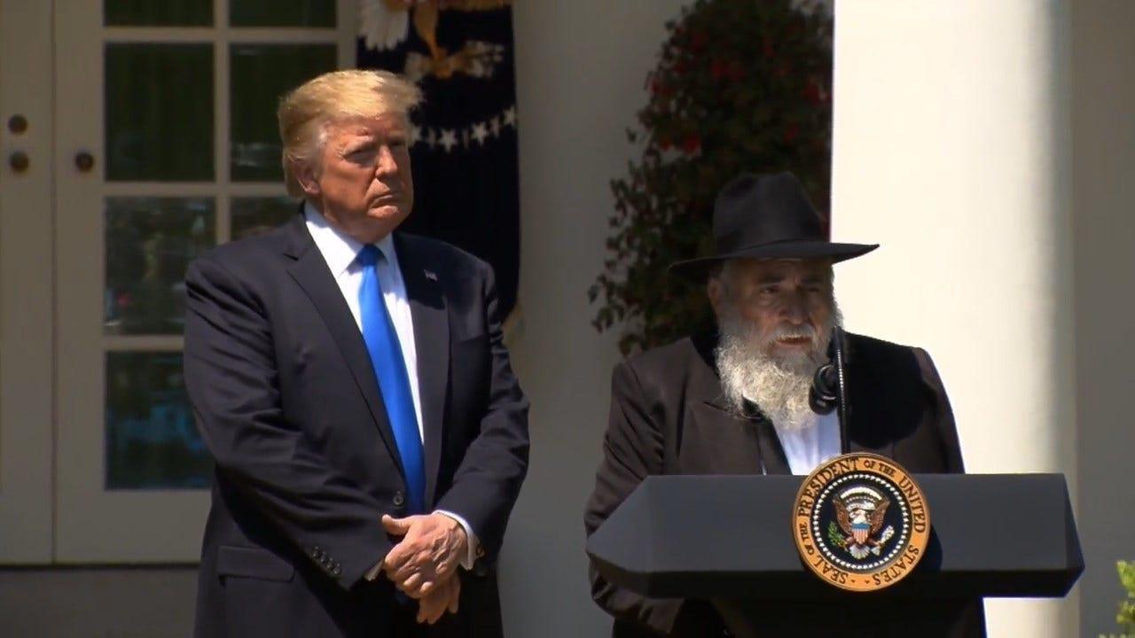 President Trump, Rabbi Injured In California Shooting Speak At National Day Of Prayer Service