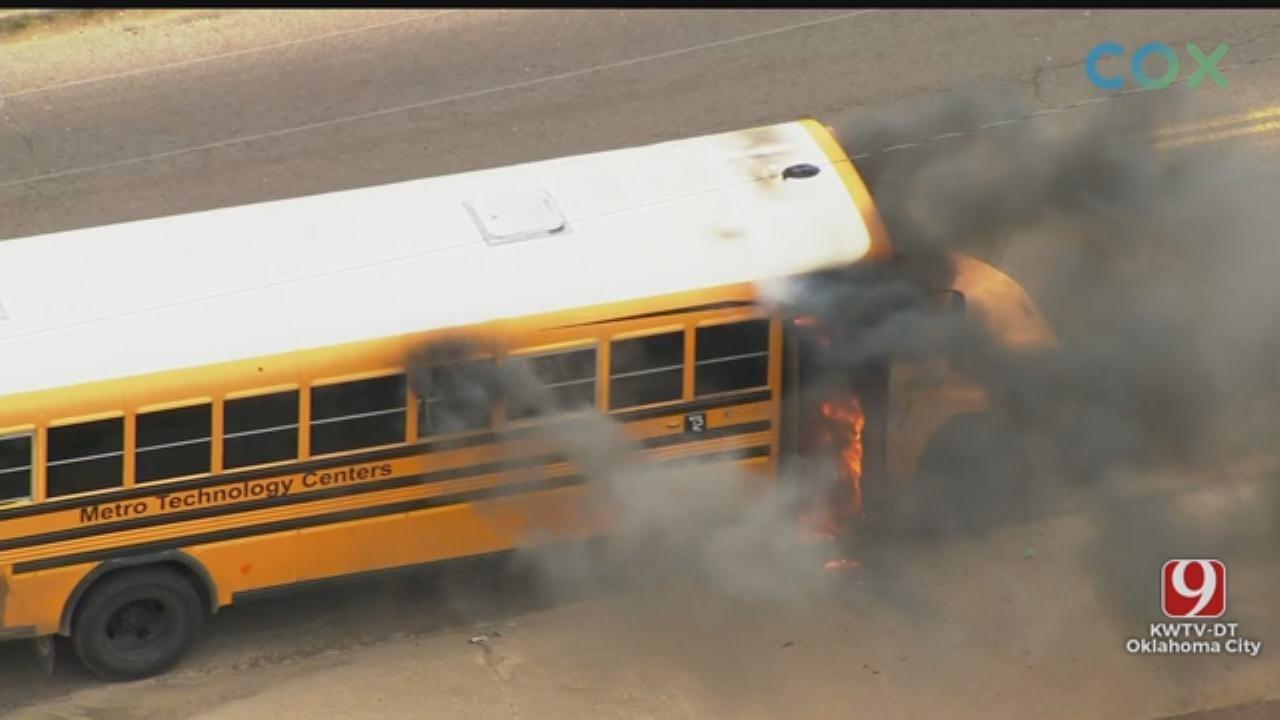 School Bus Catches Fire In Del City