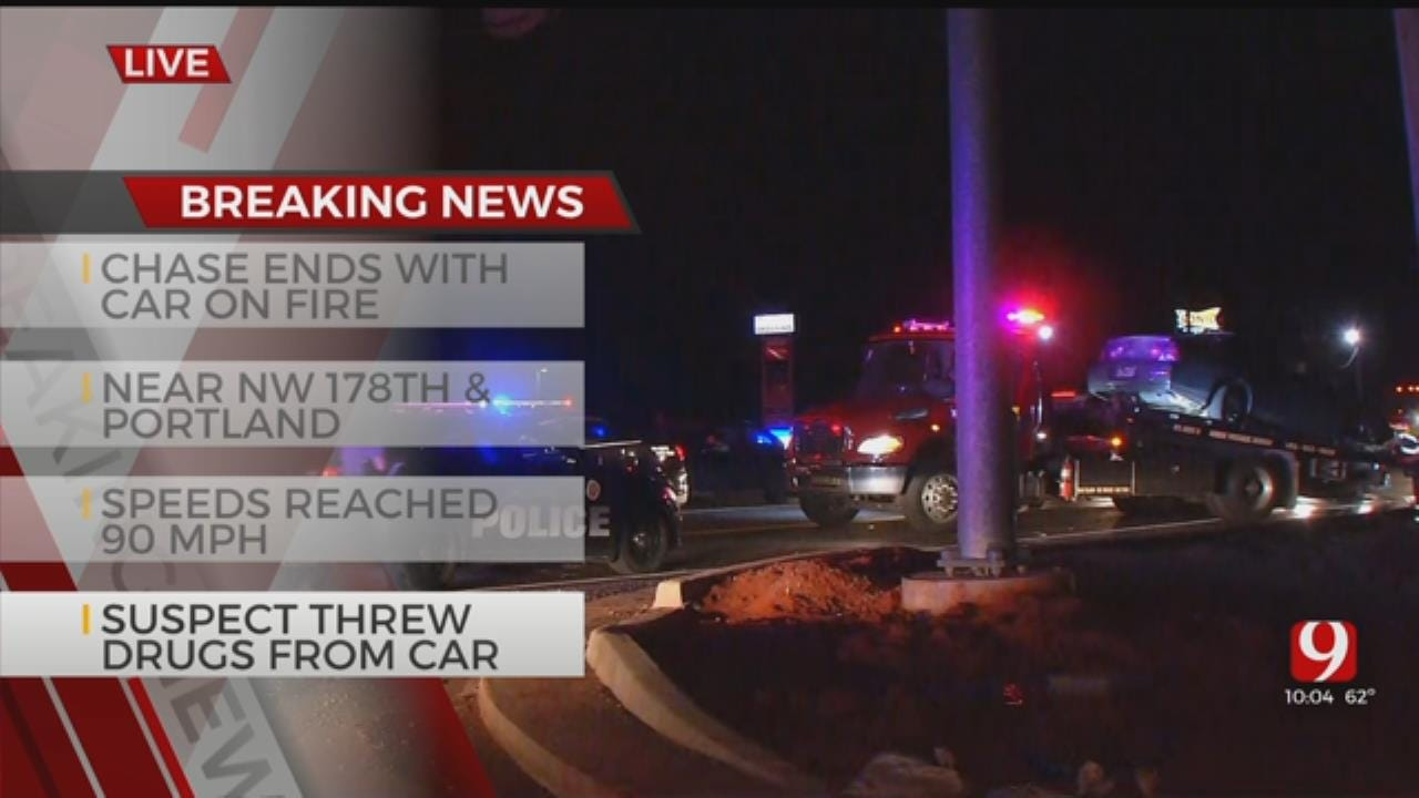 Suspect In Custody After High-Speed Chase In NW OKC