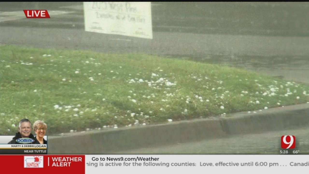 WATCH: Marty Logan Tracks Hail Along Highway 37 In Moore