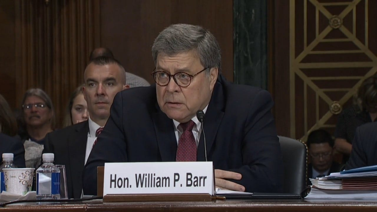 AG Barr On Whether McGahn, Mueller Should Testify Before Congress