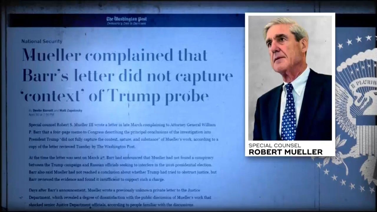 Barr Denied Knowing Mueller's Stance On Report Summary 2 Weeks After Mueller Confronted Him