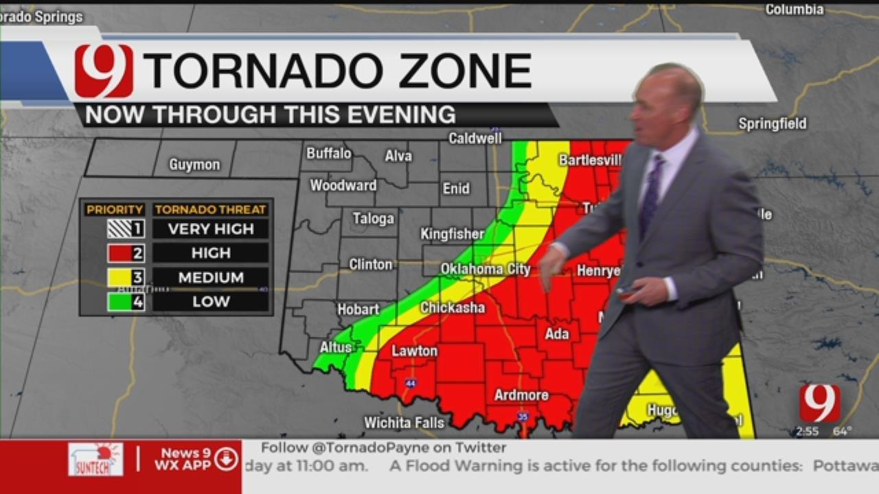 WATCH: David Payne's 3 P.M. Tornado Risk Update