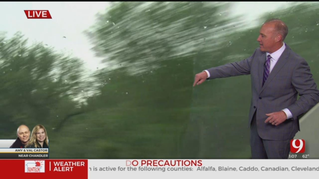WATCH: David Payne Sees Big Hook On Storm Near Chandler