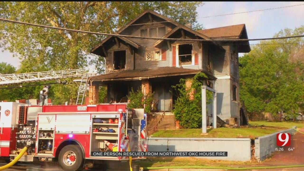 1 Rescued From House Fire In NW OKC