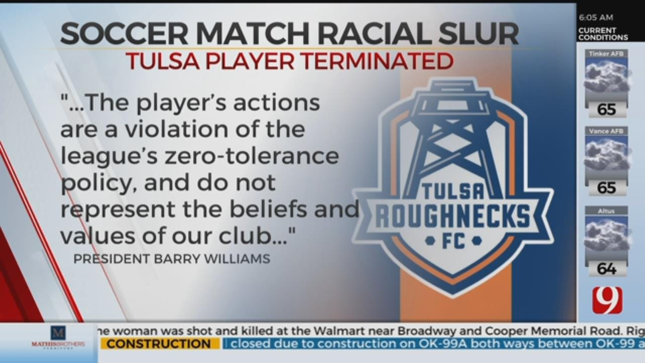 Tulsa Soccer Player Fired For Calling OKC Player Racial Slur