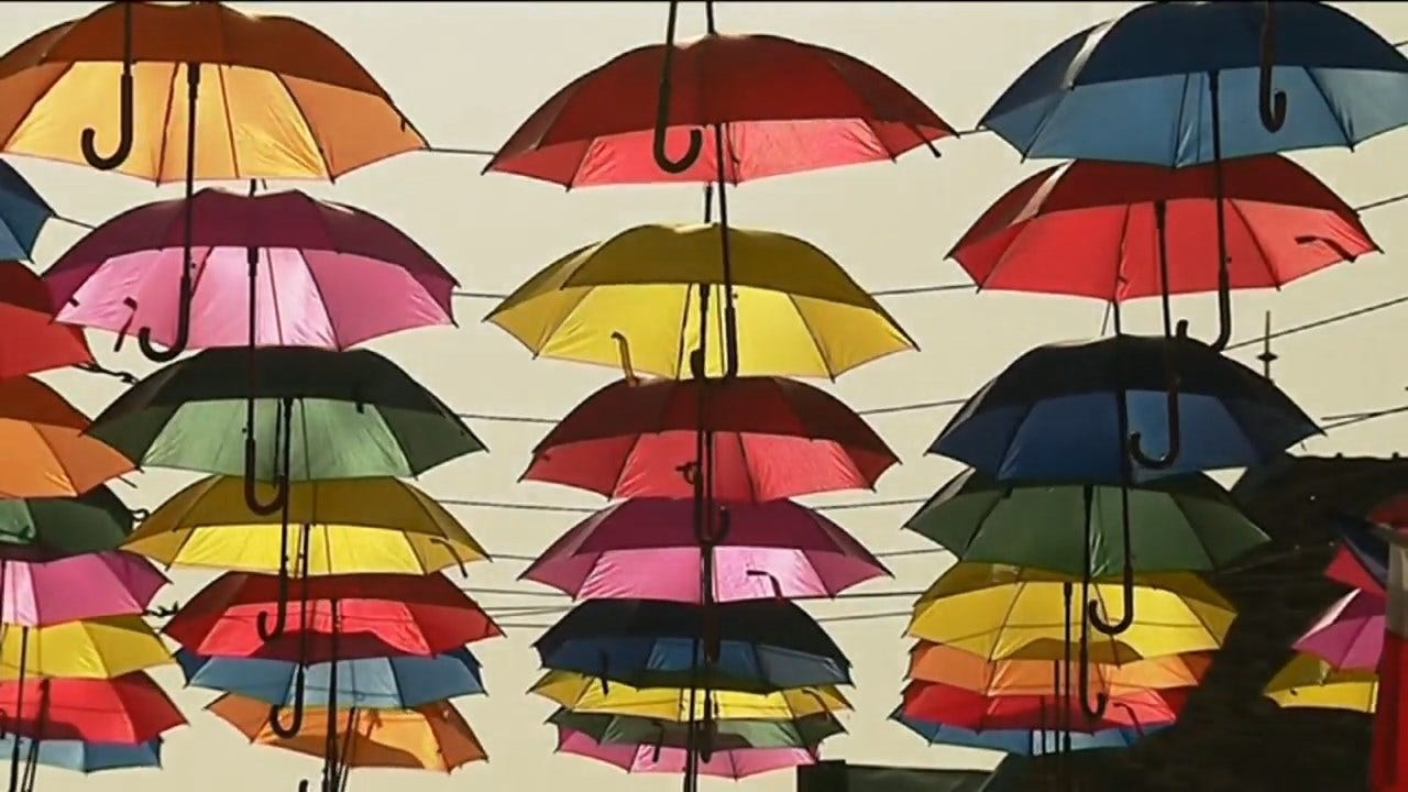 Artist Creates A Sky Of Colors Through 'Umbrella Sky Project'