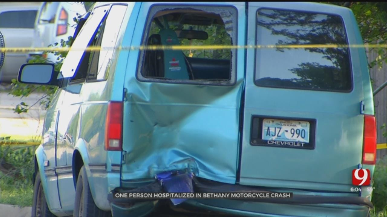 1 Injured After Motorcycle Collides With Van In Bethany