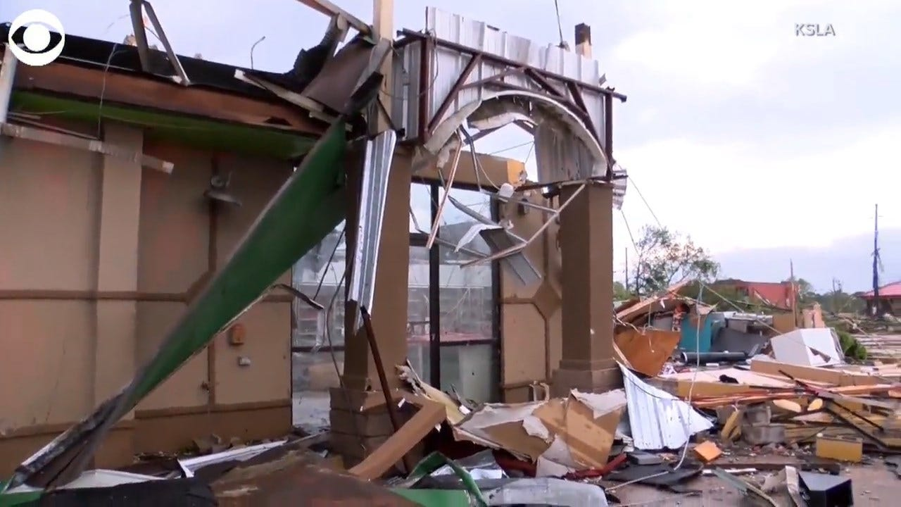 WATCH: Ruston LA Tornado Damage