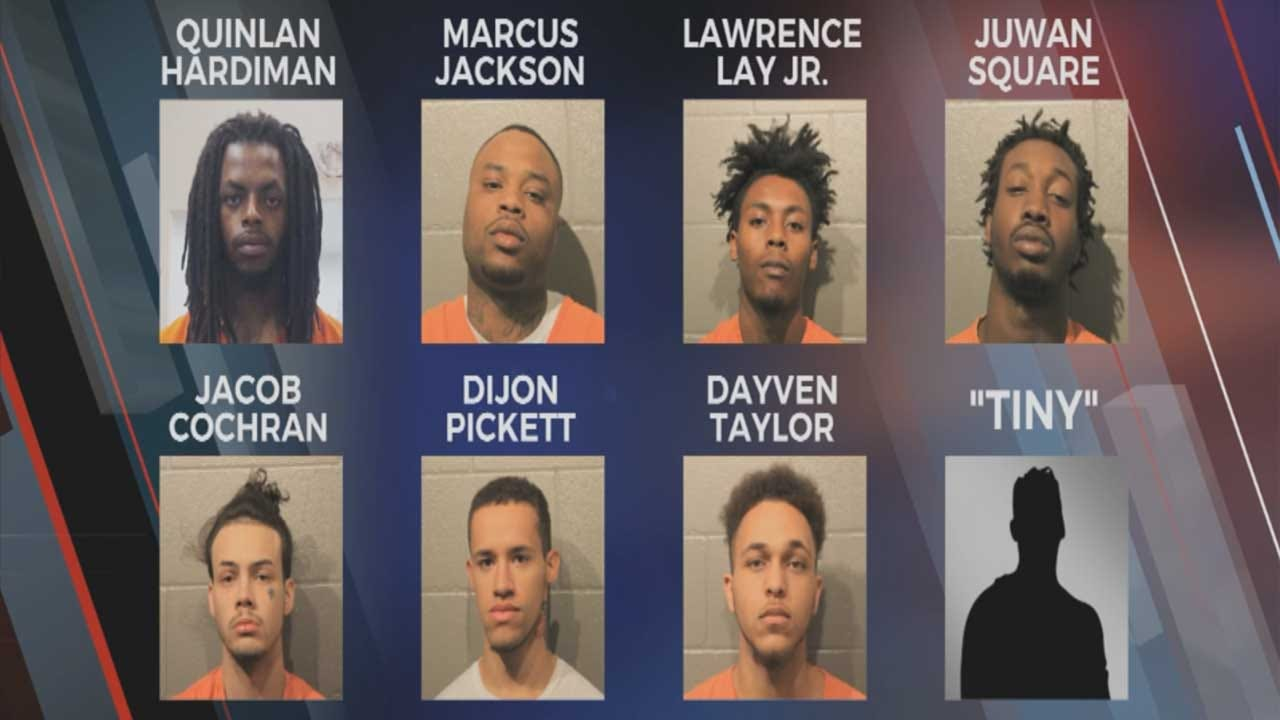 8 Accused Norman Gang Members Locked Up After Alleged Statewide Crime Spree