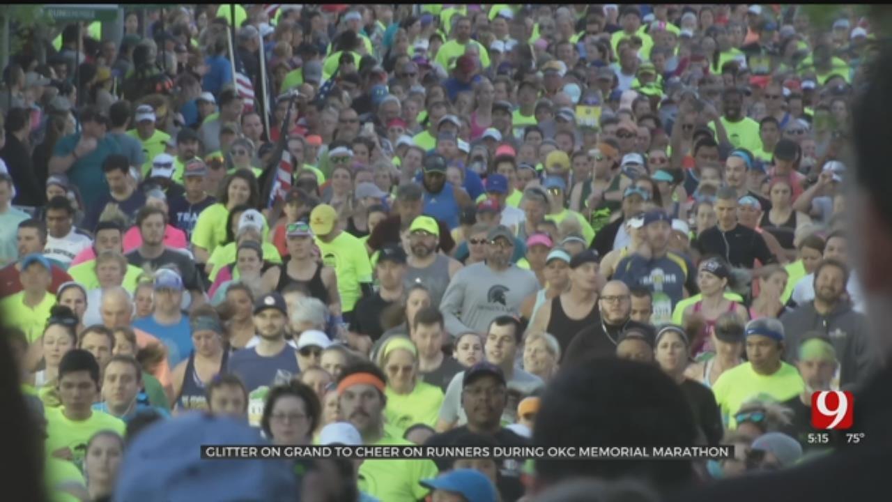 Glitter On Grand To Cheer On Runners During OKC Memorial Marathon