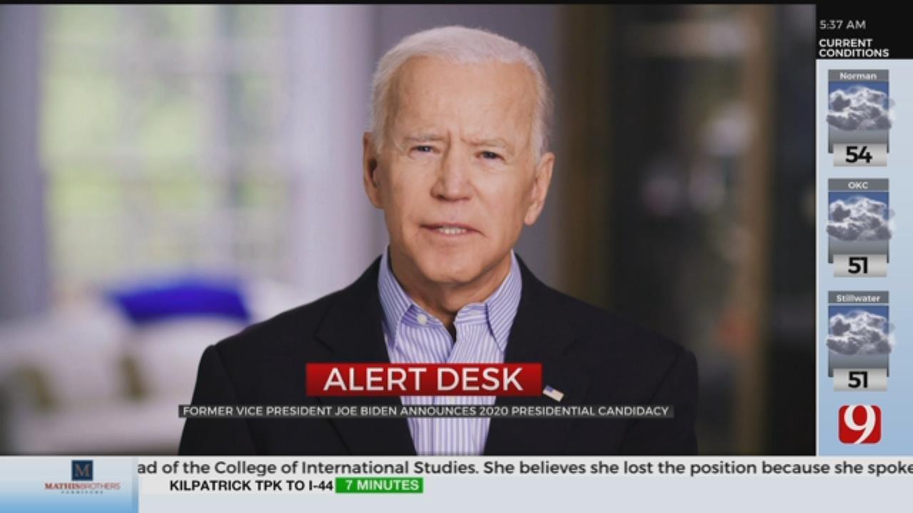 Former Vice President Joe Biden Announces 2020 Presidential Candidacy