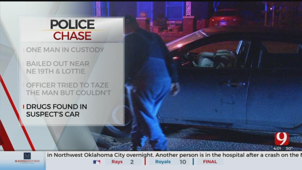 1 Arrested Following Overnight Chase In NE OKC