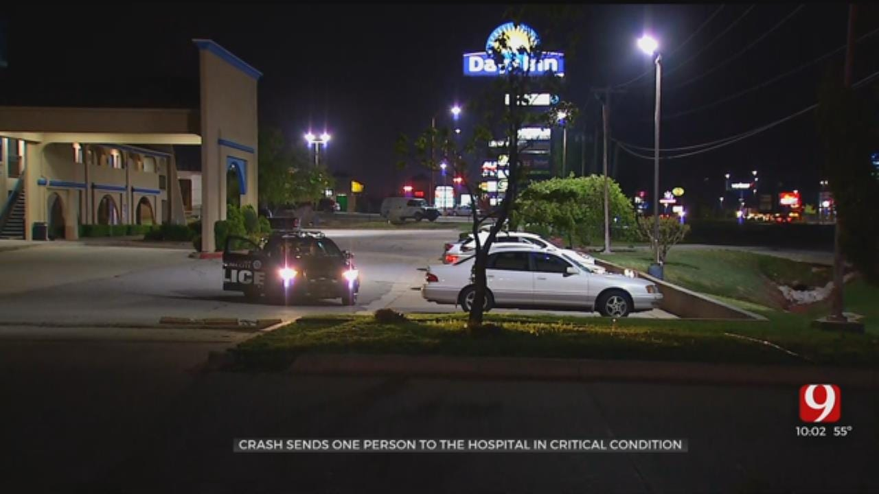 1 Transported Following Auto-Pedestrian Crash In NW OKC