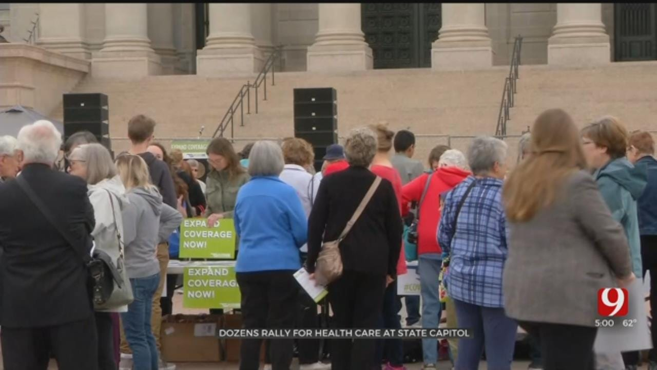 Dozens Rally For Health Care At State Capitol