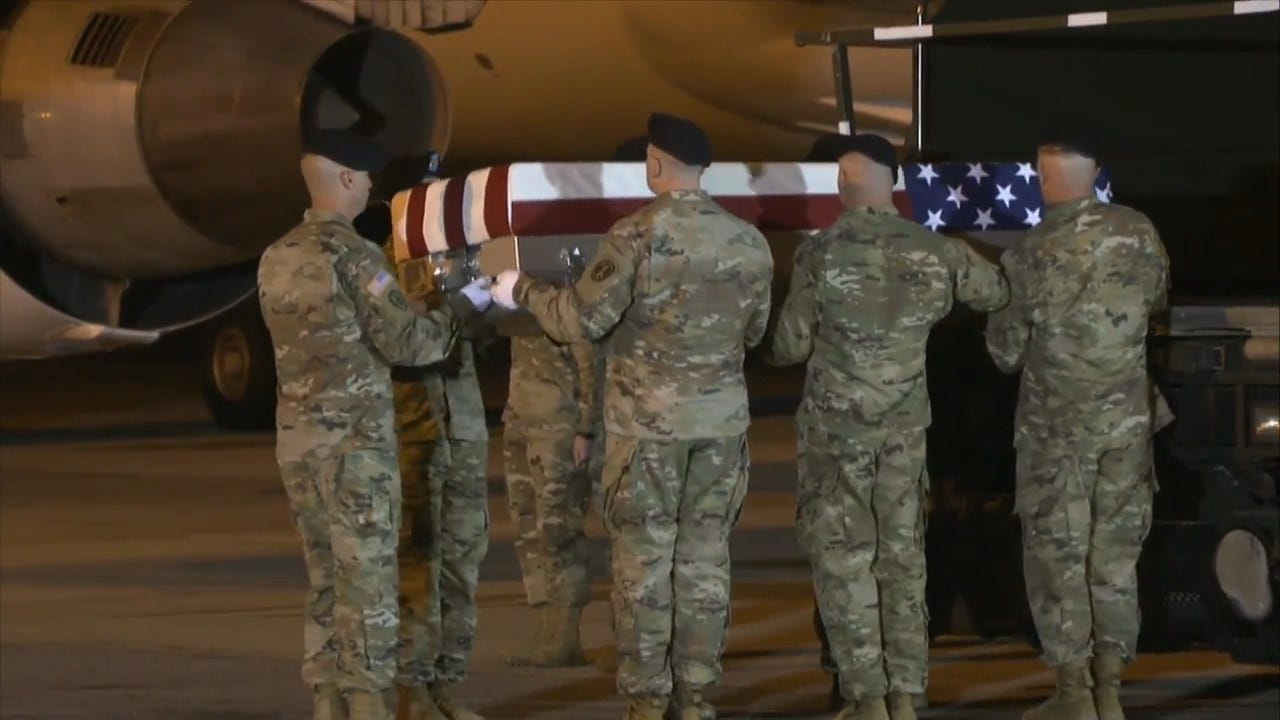 Soldier Who Died In Iraq Honored In Dignified Transfer To Dover Air Force Base