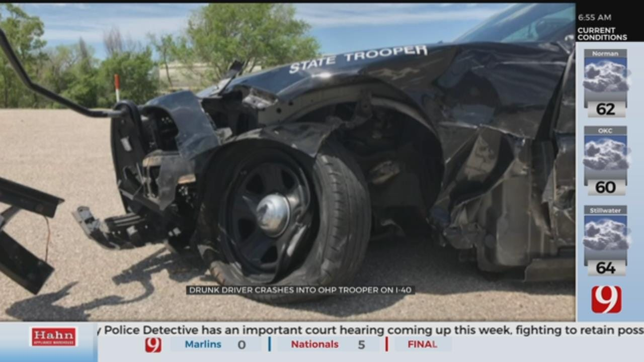 Drunk Driver Crashes Into OHP Trooper On I-40