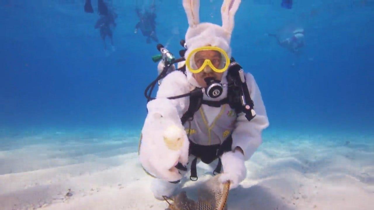 Underwater Easter Egg Hunt In Florida