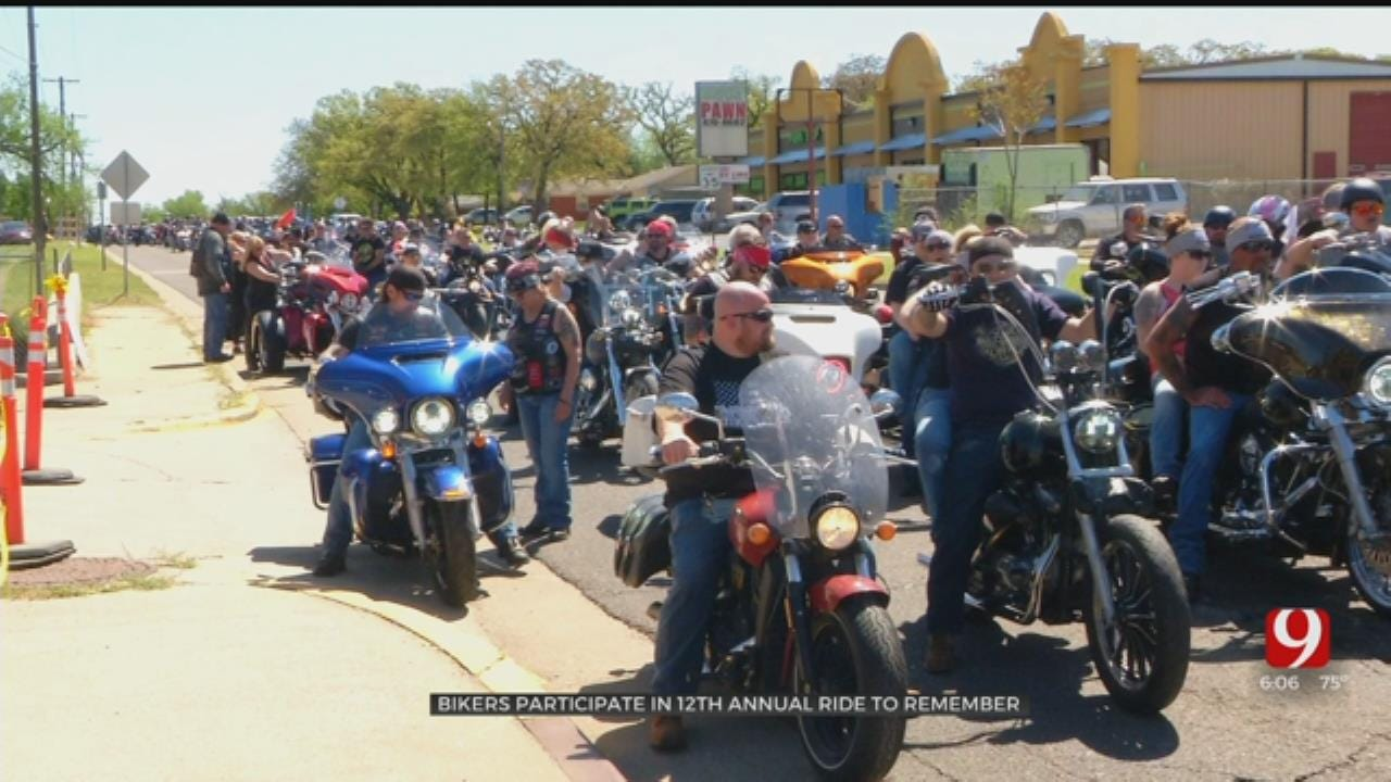 Bikers Participate In 12th Annual 'Ride To Remember'