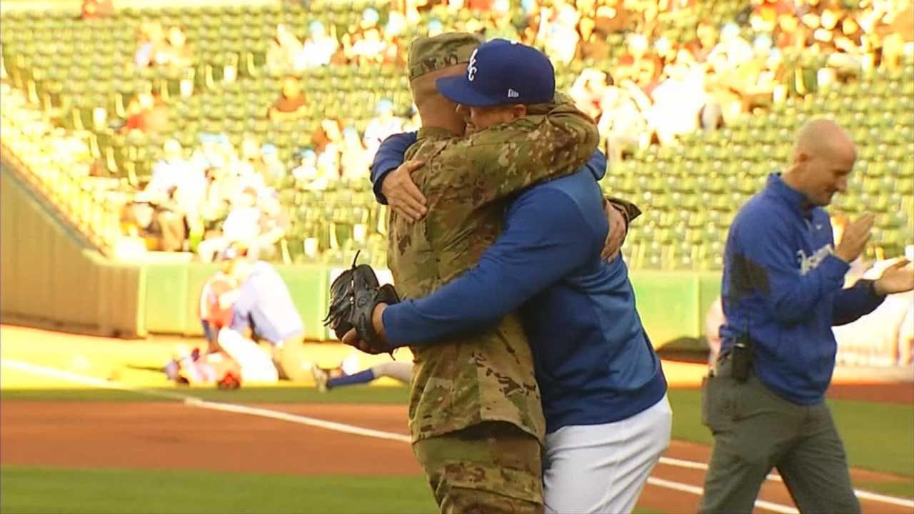 Soldier Surprises His Brother, OKC Dodgers Pitcher