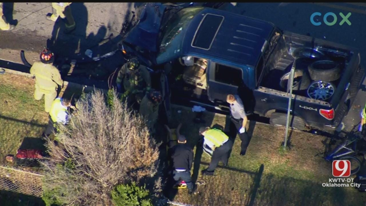 WATCH: Bob Mills SkyNews 9 Flies Over OKC Pursuit That Ended In Crash