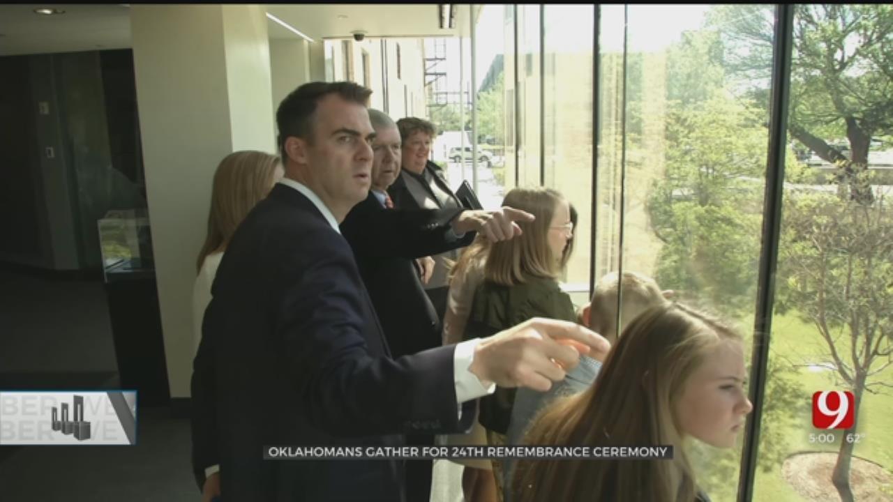 Governor Stitt, Family Tour OKC National Memorial Museum For First Time