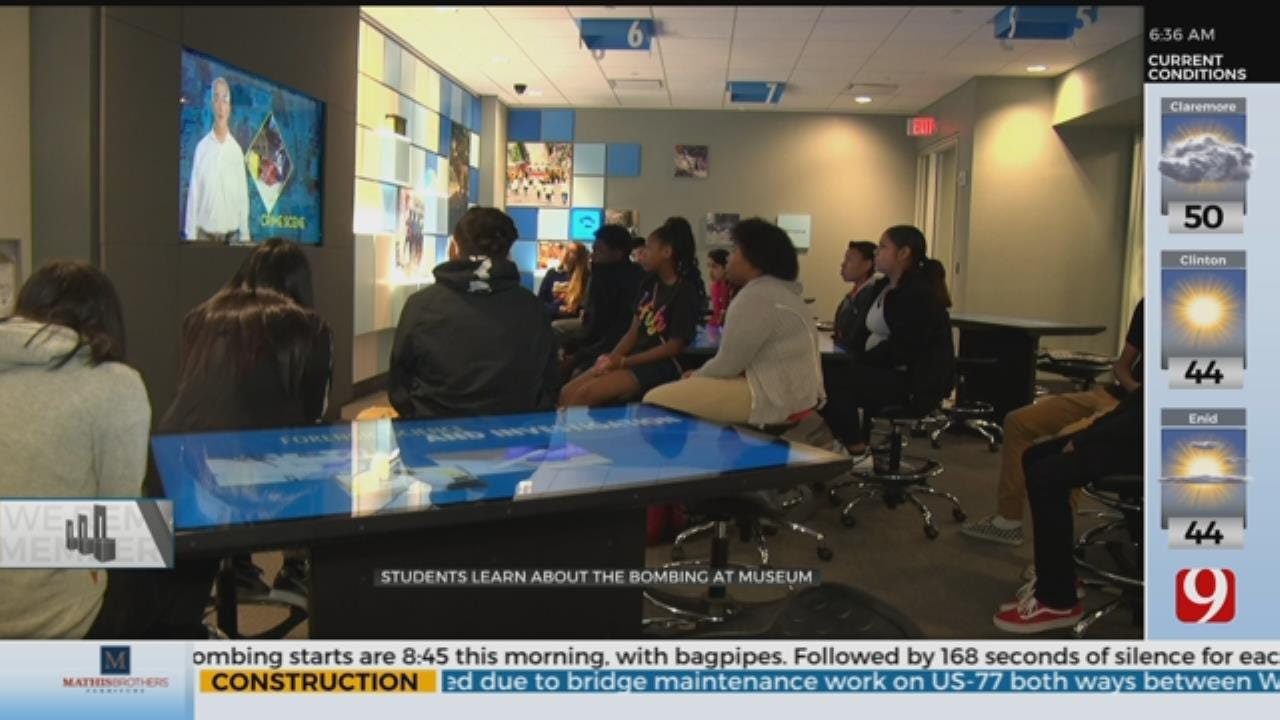 Students Learn About The Bombing At The National Memorial And Museum