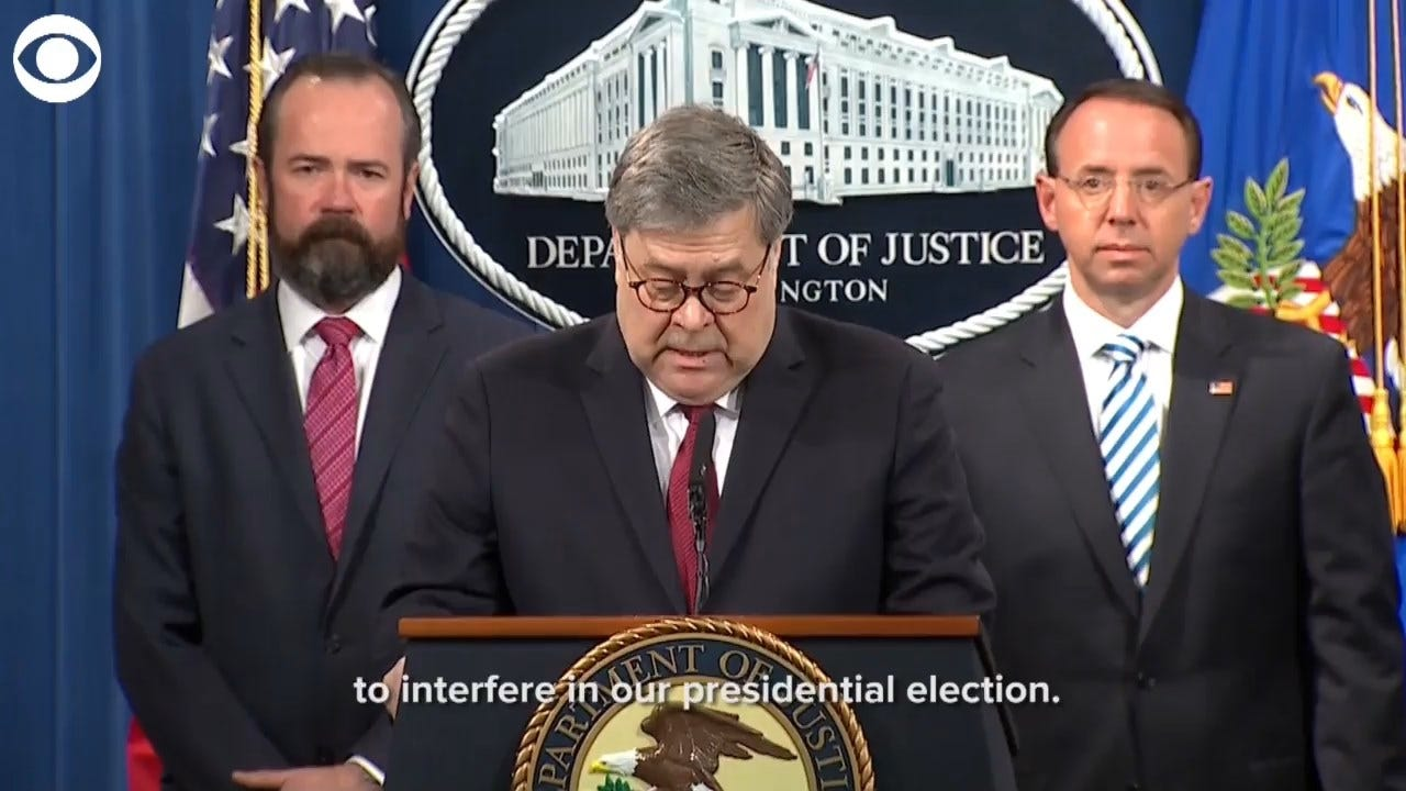 AG Barr: No Coordination Between Russians, Any American