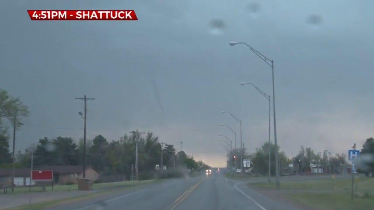 Tornado Touches Down Near Shattuck