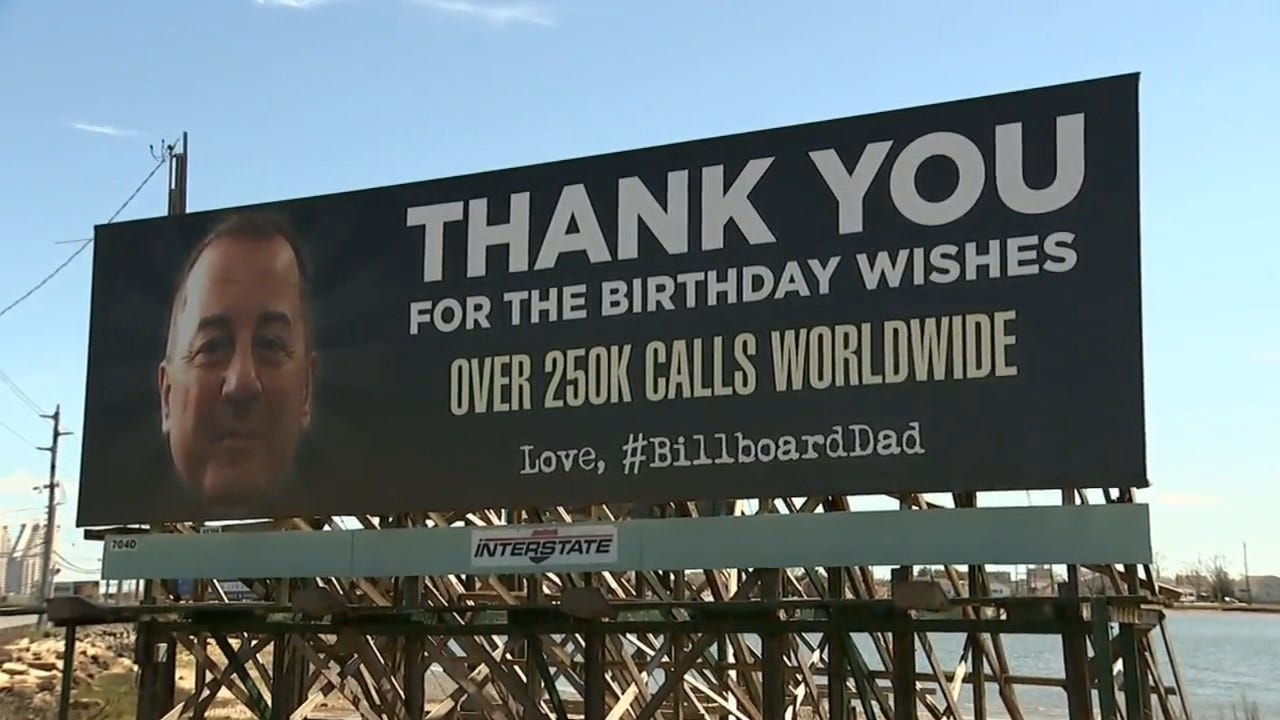 "'Billboard Dad"" Thanks 250K People For Birthday Wishes"