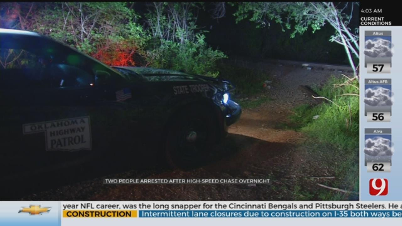 2 People Arrested After High-Speed Chase Overnight