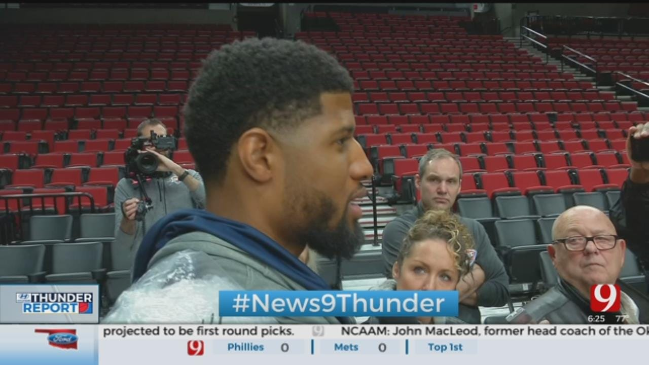 PG's Right Shoulder A Concern For Thunder