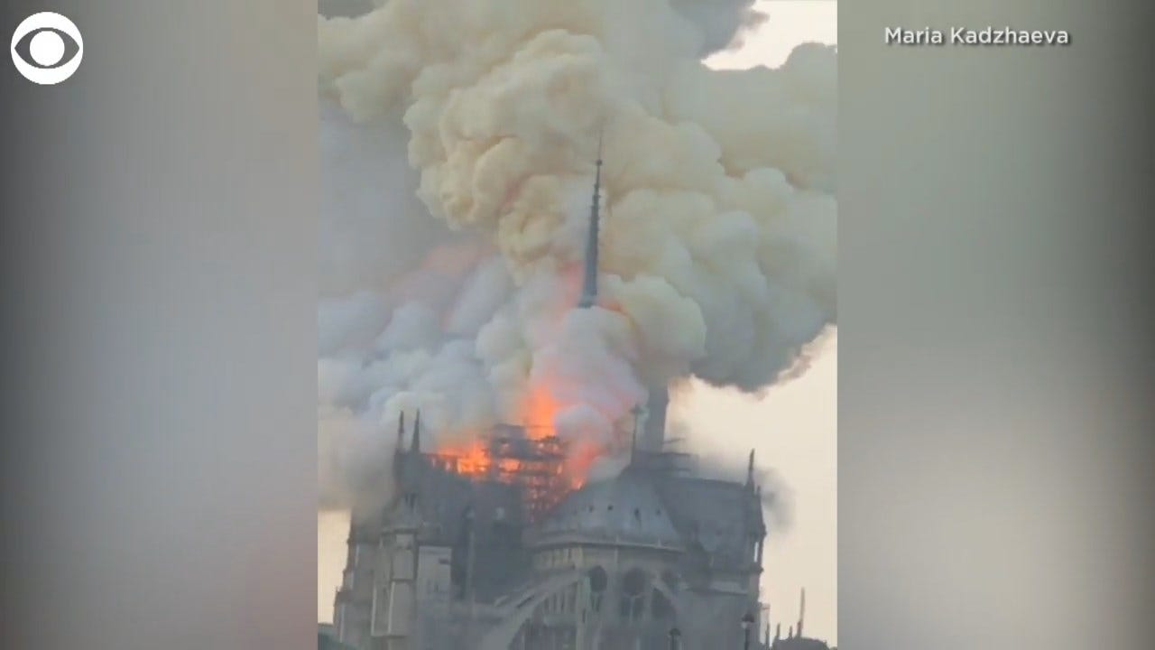 Massive Fire Burns Iconic Notre Dame Cathedral In Paris