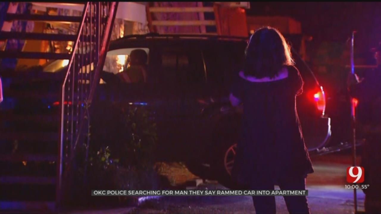 OKCPD: Man Rammed Car Into Apartment